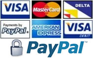 Payments accepted from all major credit cards via PayPal